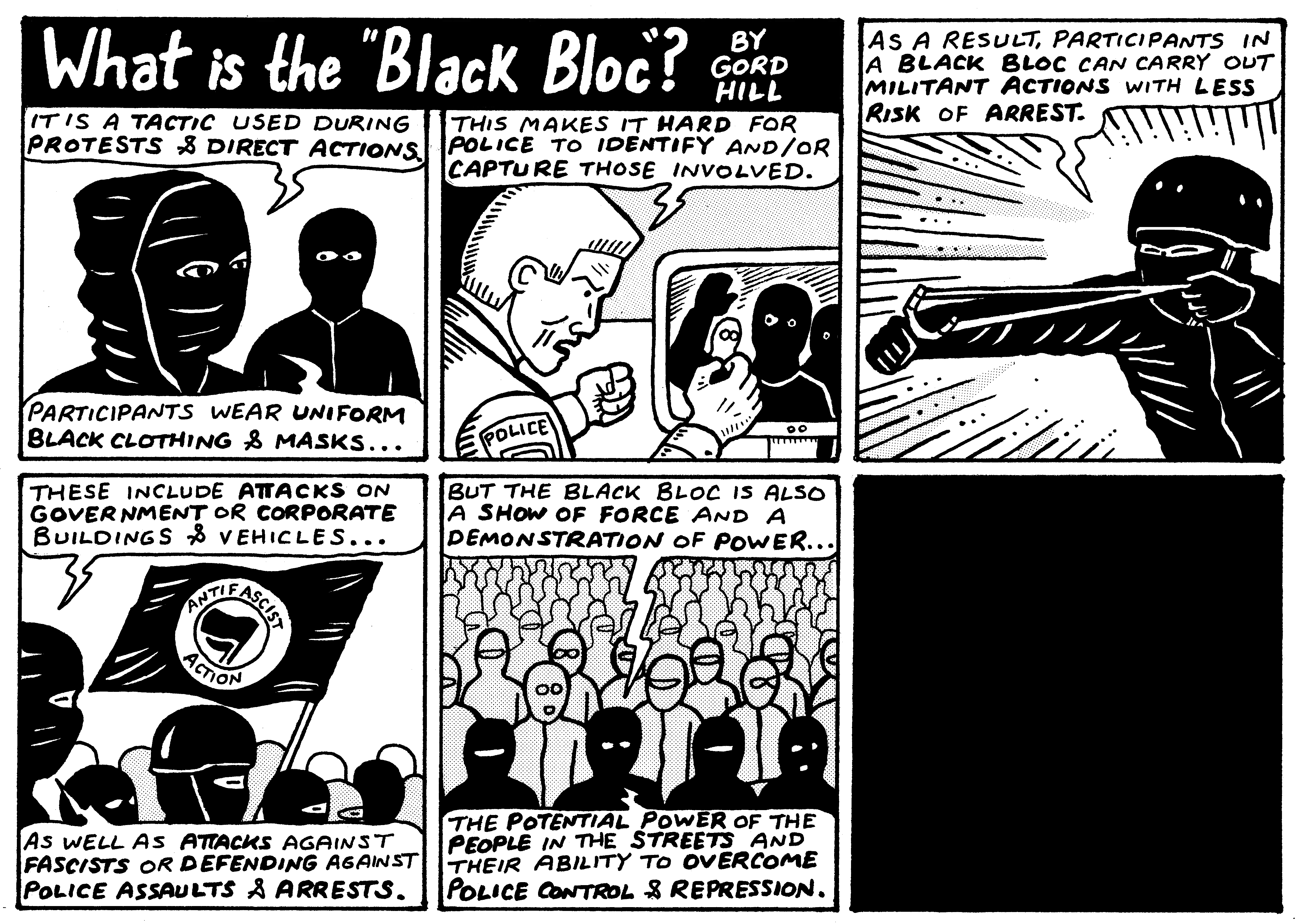 Comic black bloc 2