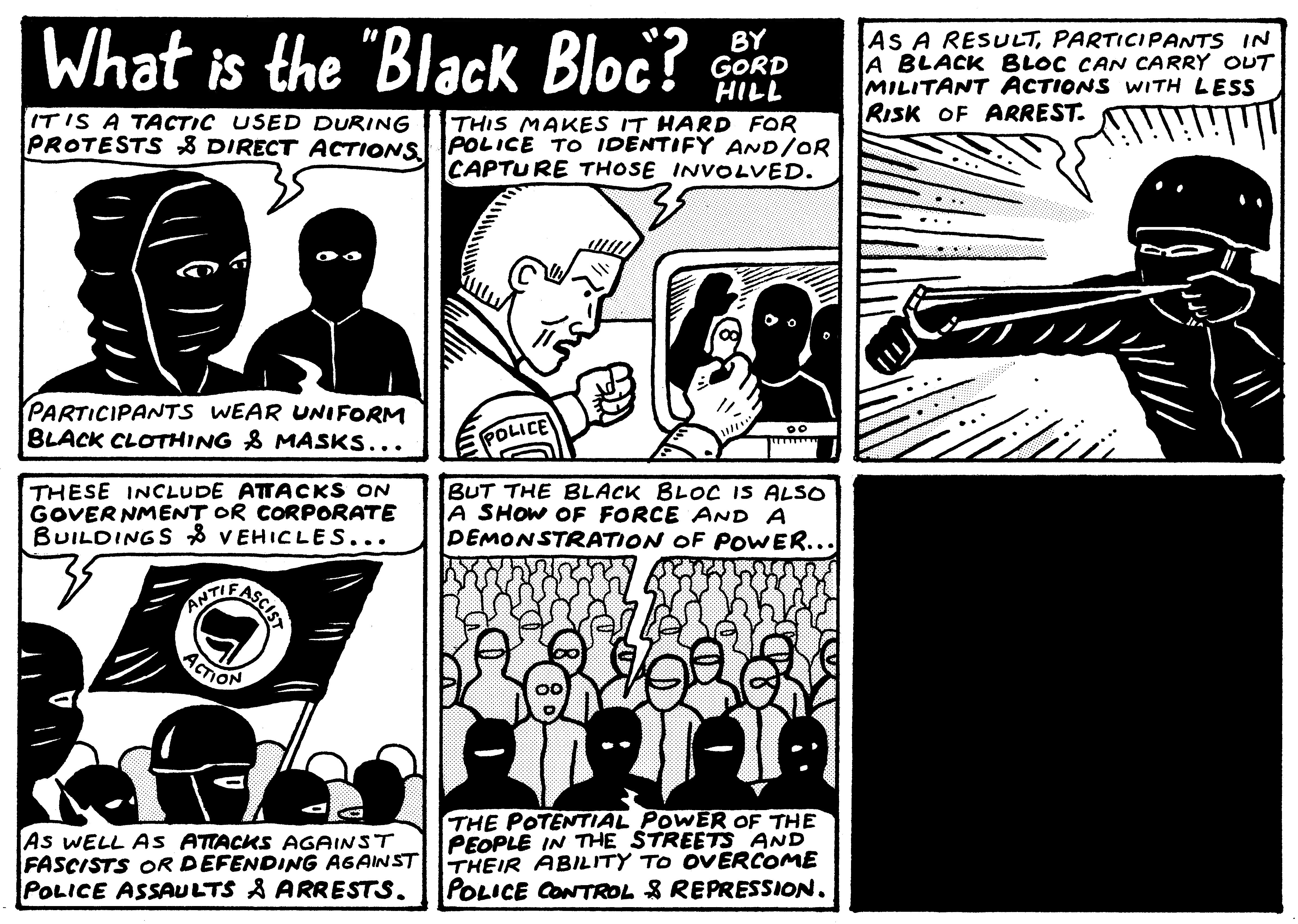 Comic black bloc 2